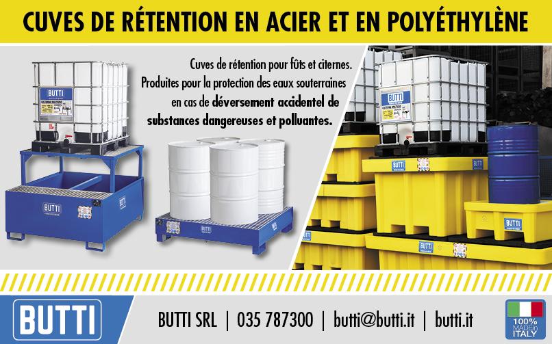 cuves de rétention en acier et en polyéthylène Butti